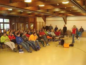 Photo: Briefing am Vortag