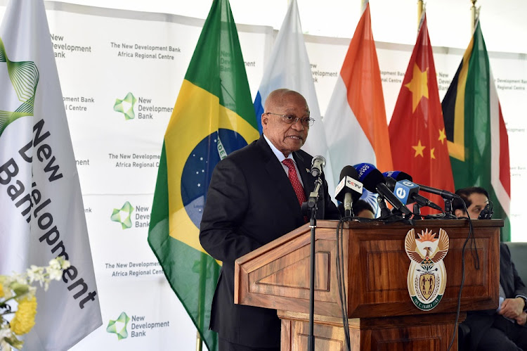 President Jacob Zuma presiding over the official launch of the Africa Regional Centre of the Brics New Development Bank (NDB) in Sandton, Johannesburg, on August 17, 2017. Picture: ELMOND JIYANE/GCIS