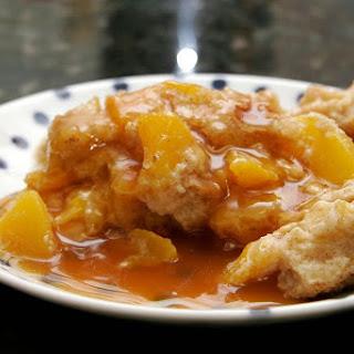 Easy Peach Bread Pudding.