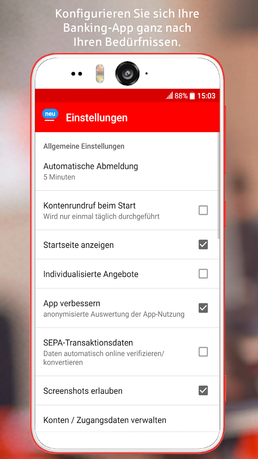 Sparkasse- screenshot