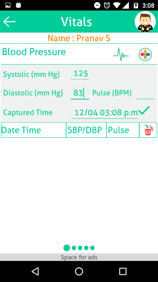 Track Your Vitals- screenshot