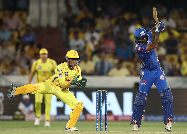 Suryakumar Yadav of the Mumbai Indians bats during the Indian Premier League Final match between the the Mumbai Indians and Chennai Super Kings at Rajiv Gandhi International Cricket Stadium on May 12, 2019 in Hyderabad, India.