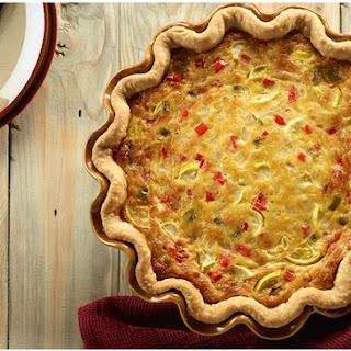 Summer Squash & Swiss Quiche