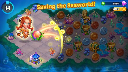 Merge Mermaids-design home&create magic fish life MOD (Purchase) 2
