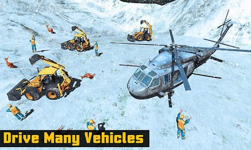 Off road Heavy Excavator Animal Rescue Helicopter - náhled