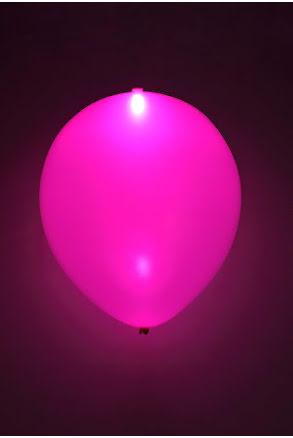 LED-ballong, lila 5st