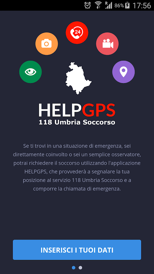 HELPGPS - 118 Umbria Soccorso- screenshot