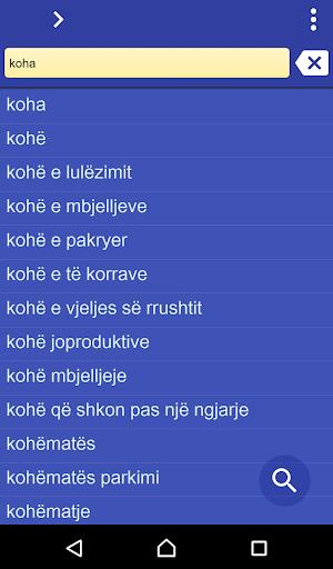 Albanian Turkish dictionary