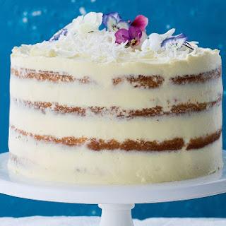 Naked Lamington Cake With Raspberry Jam Panna Cotta.