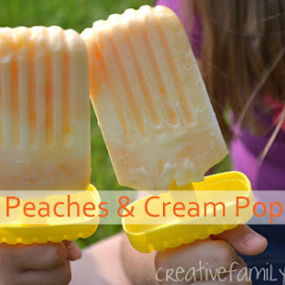 Peaches and Cream Popsicles.
