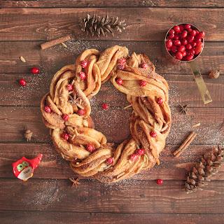Honey Almond Winter Wreath .