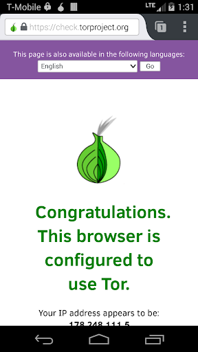 Orfox: Tor Browser for Android Screenshot