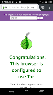 Orfox: Tor Browser for Android – Vignette de la capture d'écran