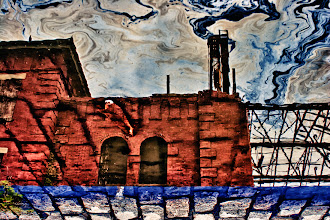 Photo: Reflection in Puddle of Oil, Brooklyn