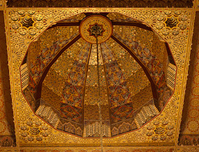 Photo: The ceilings throughout the buildings in Morocco were incredible