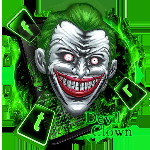 Devil Clown Green Keyboard