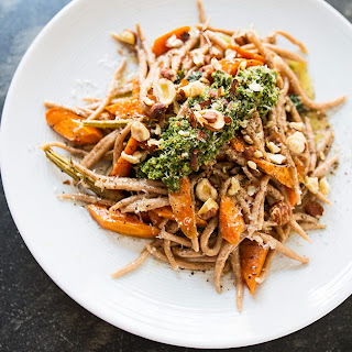 Spelt Trofie with Carrot-Top Pesto Recipe