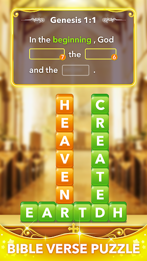 Bible Word Heaps - Connect the Stack Word Game - screenshot