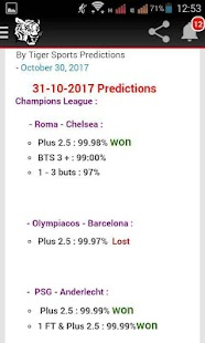 Tiger Sports Prediction - náhled