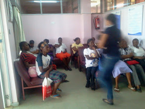 Photo: patients at new clinic