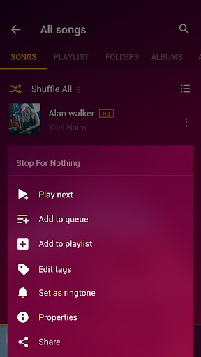 Free Music Player - MP3 Player 1.2.0.16 Screenshots 4