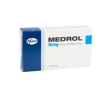 Medrol 16Mg Tabletas   Caja X14Tab. Pfizer Metilprednisolona