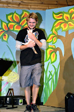 Photo: Ryan Taking the Cat Off Stage