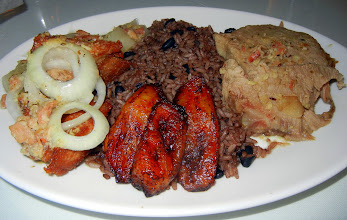 Photo: Our prok platter at Andres Cuban Restaurant