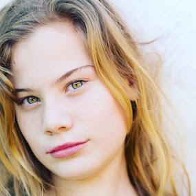 Girl portrait  by Heidi Fourie - Uncategorized All Uncategorized ( brighteyes, thought, girl, portrait, daughter )