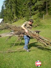 Photo: Príprava dreva  - bude opekačka