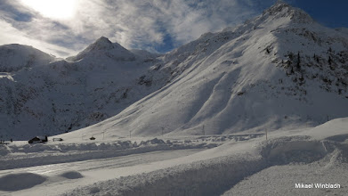 Photo: Snö på bergen.
