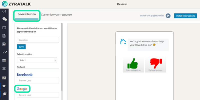 get more google reviews with live chat