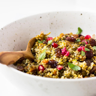 Moroccan Style Lentil and Quinoa Salad.