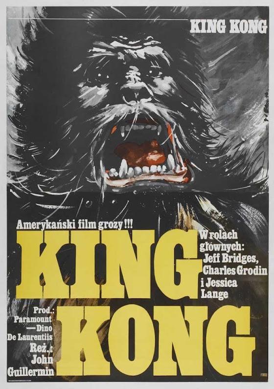 Polski plakat filmu King Kong