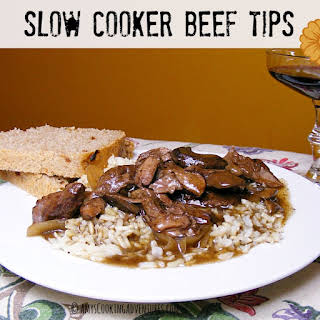 Slow Cooker Beef Tips.