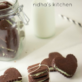 Homemade Oreo with Mint Filling
