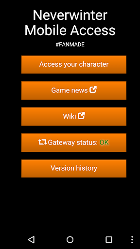 Neverwinter Mobile Access