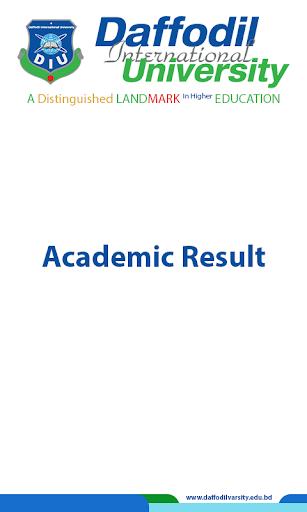 DIU Academic Result