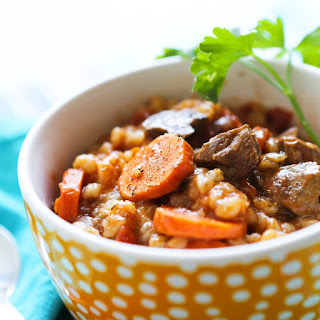 Best Ever Crockpot Beef and Barley Soup.