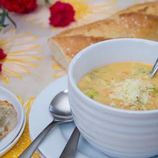 Skinny Broccoli Cheddar Soup.