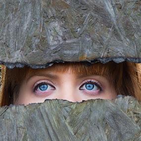 Eyes by Brian Pierce - People Portraits of Women ( motel, ashton, ramona, derlict, ruins,  )