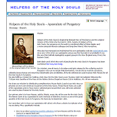 Helpers Of The Holy Souls
