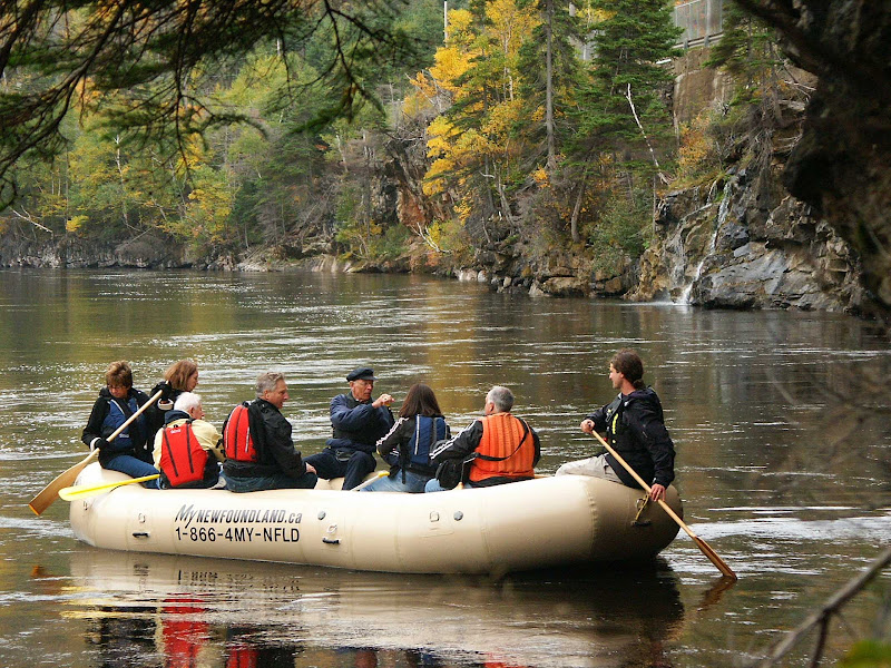 River rafting on the Humber River in Corner Brook, Newfoundland, Canada.