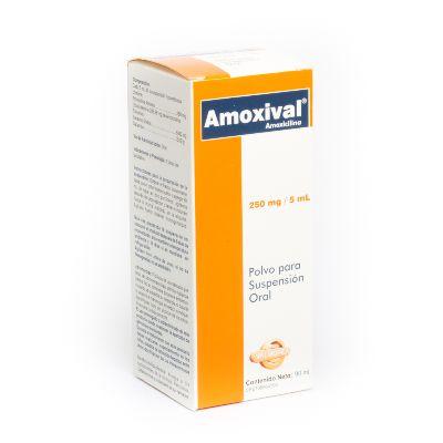 Amoxicilina Amoxival 250 mg/5 mL Suspensión x 90 m: Valmor