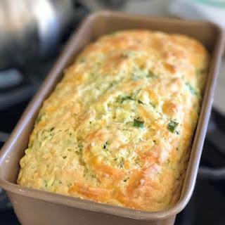 Savory Zucchini Cheddar Quick Bread.