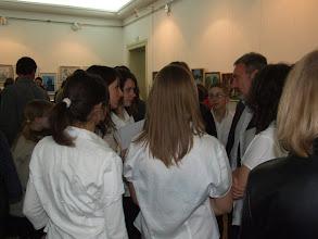 Photo: Bokor Tibor szenátor a diákok körében