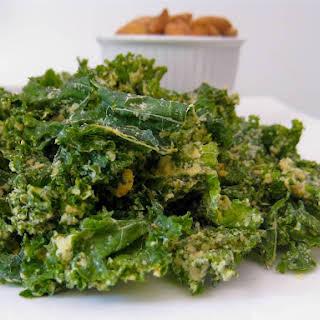 Raw Garlic Kale Chips.