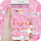 Pink rose  heart-shaped  theme