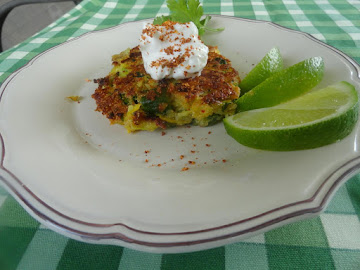 Country Garden Fritters With Chili Lemon Cream Recipe