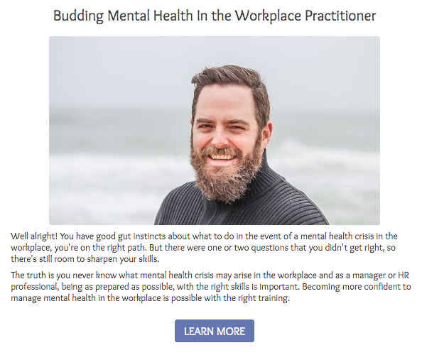 Budding mental health in the workplace practitioner